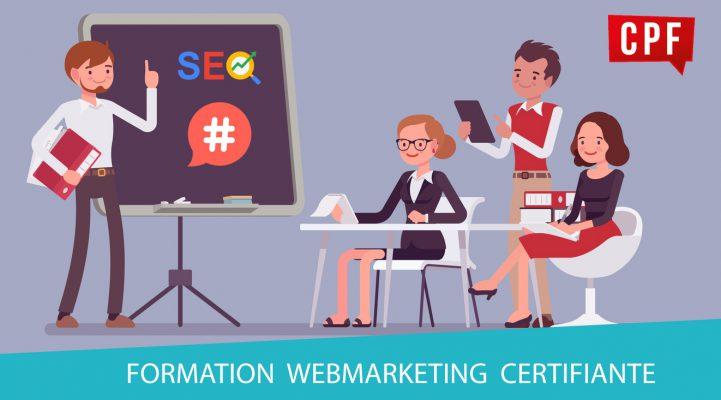 Une semaine pour se former au webmarketing, formation désormais éligible au CPF