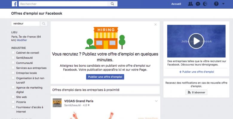 Vous pouvez désormais chercher un emploi sur Facebook : voici comment faire - Business - Numerama